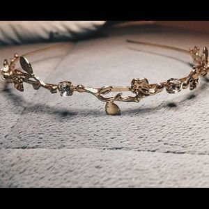 Gold Floral Headband